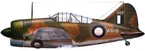 «Модель 339-23» (А51-10) из 25- й австралийской эскадрильи. Перт, Австралия, сентябрь 1942 года. С августа 1942 года по январь 1943 года девять «Баффало» 25-й эскадрильи обеспечивали противовоздушную оборону западной Австралии.