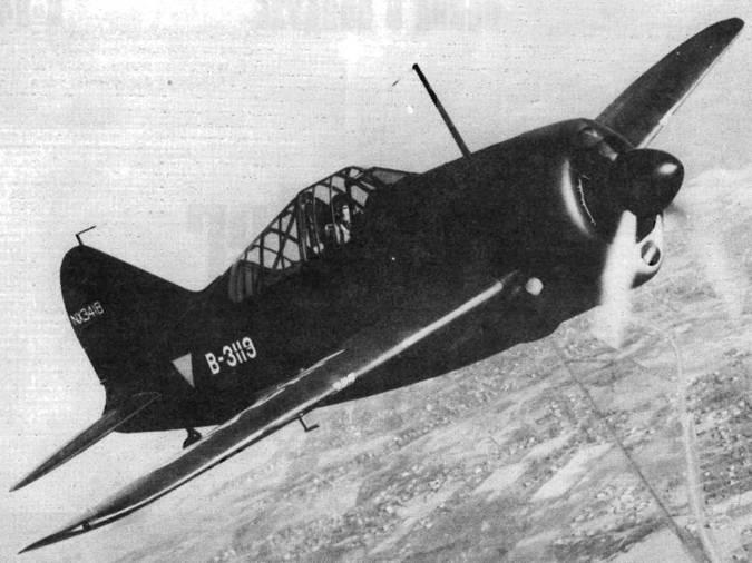 «Брюстер Модель 339D» построенный для Голландской Ост-Индии, но закончивший свою карьеру в Австралии в составе 5-й воздушной армии США.