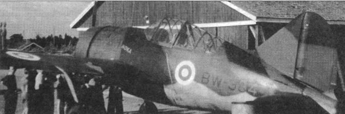 Другой снимок самолета «NOKA», сделанный уже после войны. Самолет вместо свастики имеет бело-сине-белую розетку. Истребители «Баффало», пережившие войну, вплоть до конца 1948 года использовались в качестве учебных самолетов.