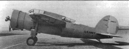 Первое создание Дейтона Брауна на фирме «Брюстер» — прототип разведчика-бомбардировщика XSBA-J. Самолет совершил первый полет в 1936 году. Для своего времени это была передовая машина. Многие ее узлы позднее перешли к истребителю XF2A-1.