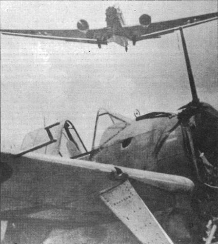 805-я эскадрилья получила несколько истребителей «Модель 339В» в марте 1941 года, когда базировалась на Крите. Еще до высадки немецкого десанта самолеты отправили в Египет. Этот «Баффало» был брошен англичанами на острове и попал в руки фашистов.