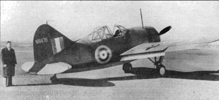 Первый истребитель «Модель 339Е» (W8131), построенный по заказу Великобритании в начале декабря 1940 года. Самолет имел лобовое бронестекло и простейший концентрический прицел, который вскоре заменили коллиматорным прицелом Мк. III.