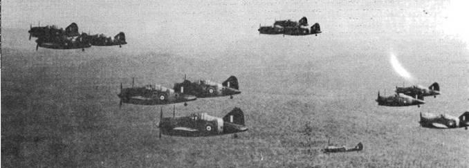 «Баффало» из 243-й эскадрильи над малайскими джунглями. Эскадрилья базировалась в Калланге на острове Сингапур и участвовала в обороне острова.