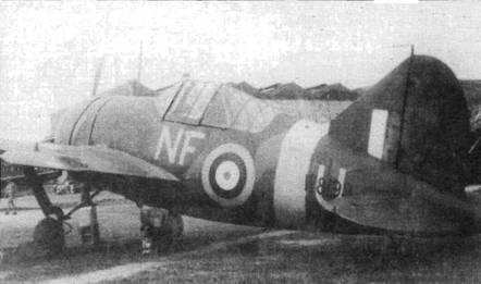 «Баффало» из 488-й новозеландской эскадрильи оснащен зеркалом заднего вида автомобильного типа. Новозеландцы получили истребители «Баффало» всего за месяц до начала войны и не успели подготовить пилотов.
