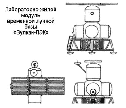 Лунная база по проекту НПО «Энергия»