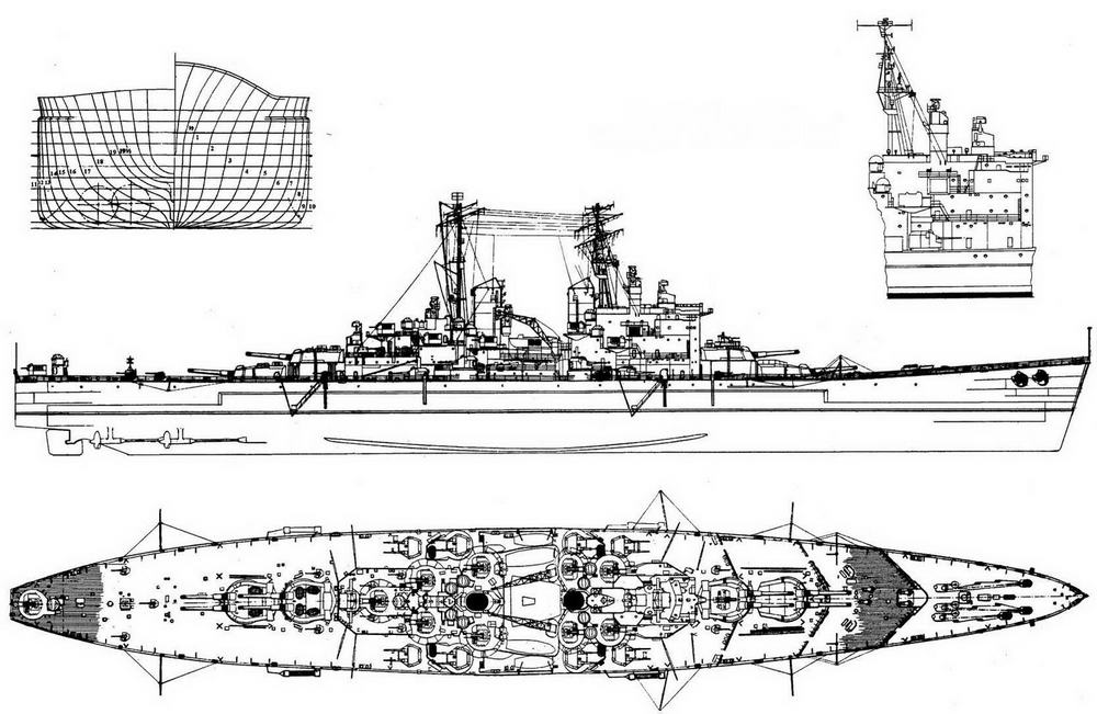 """Линейный корабль """"Вэнгард"""" в мае 1946 года"""