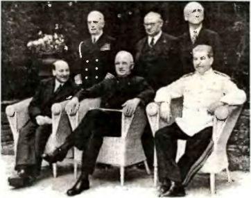 Повелители послевоенного мира. Сталин, Трумен, Эттли в Потсдаме. 1945г.