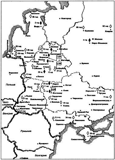 Группировка бронетанковых и механизированных войск СССР в середине 50-х гг.
