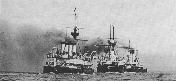 """""""Наварин"""" в составе Учебно-артиллерийского отряда. 1903г."""
