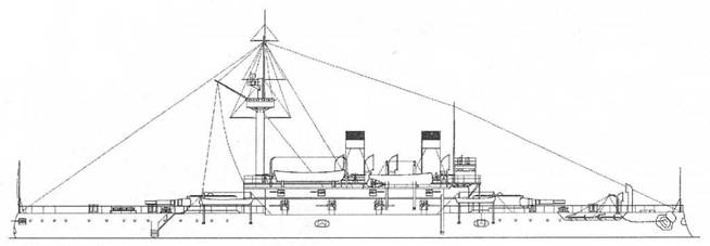 "Броненосец ""Назарин "". 1896г. (Наружный вид)"