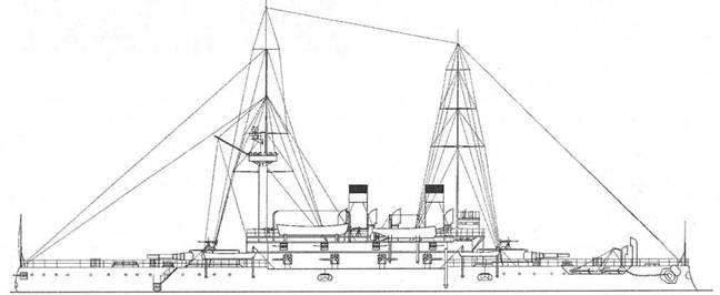 "Броненосец ""Наварии"". 1904г. (Наружный вид)"