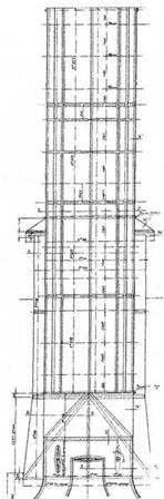 """Броненосец """"Наварим"""". 1896г. (Конструктивный чертеж дымовой трубы)"""