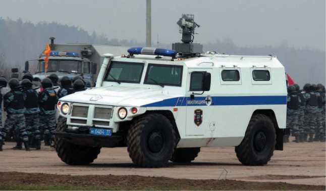 СПМ-1 ГАЗ-233034 «Тигр» с установкой отстрела спецсредств «Лафет».
