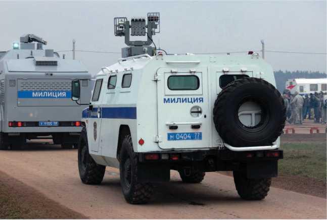 СПМ-1 ГАЗ-233034 «Тигр» с УОС «Лафет» в составе группы обеспечения правопорядка.