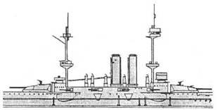 """Броненосец """"Канопус"""". 1917 г. (Наружный вид центральной части корпуса)"""