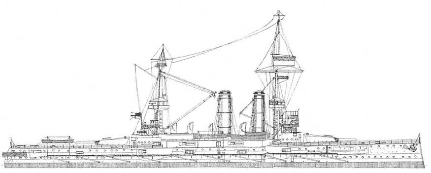 """Броненосец """"Формидабл"""". 1897 г. (Наружный вид и вид сверху)"""