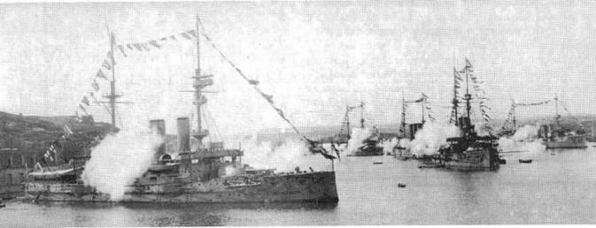 """""""Формидабл"""" и """"Имплакейбл"""" на Мальте. Ноябрь 1906 г."""
