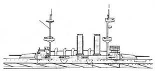 """Броненосец """"Имплакейбл"""". 1917 г. (Наружный вид центральной части корпуса)"""