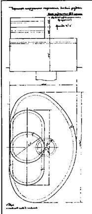 Один из вариантов боевых рубок, планировавшихся к установке на кораблях русского флота РГА ВМФ Ф. 421. On. 1. д. 1705. л. 174 б.