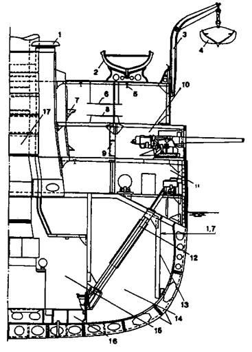Линейный корабль 'Евстафий» (Сечение в районе мидель-шпангоута)