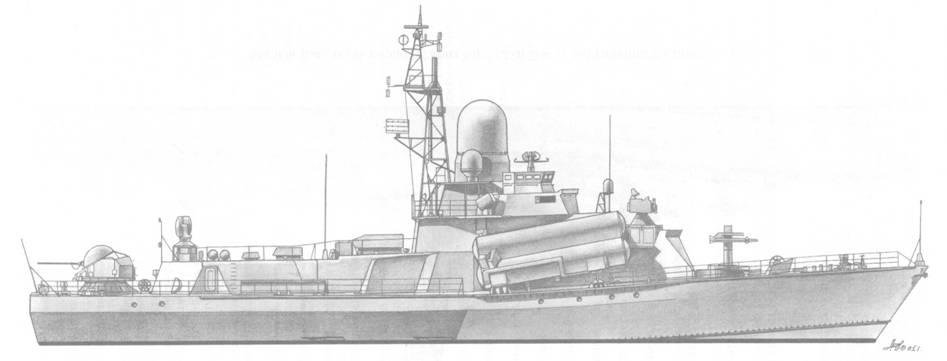 Малый ракетный корабль Буря (пр. 1234) после вступления в строй