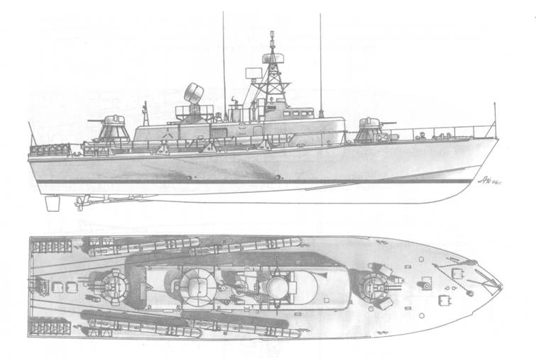 Торпедный катер пр. 206