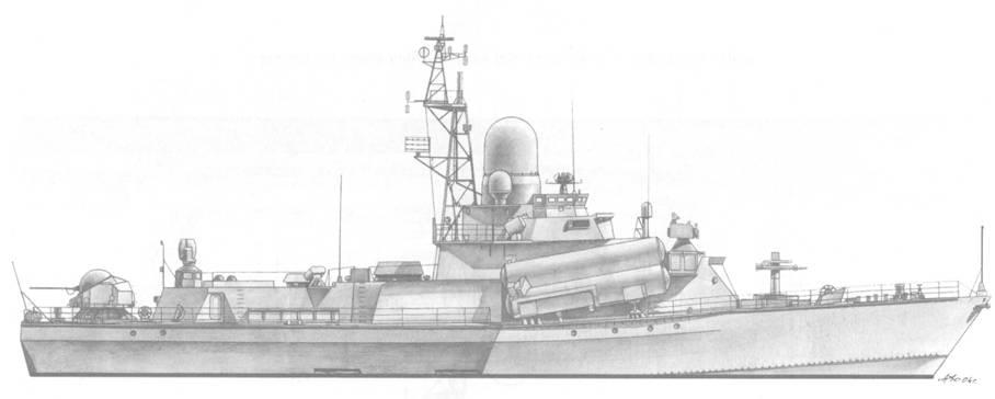 Малый ракетный корабль Бриз (пр. 1234) после вступления в строй