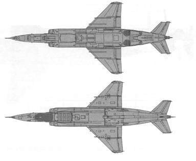 Як-38М в боеготовом состоянии, но с закрытыми перепускными клапанами верхней створки ПД. На крыльевых пилонах подвешены блоки НУРС УБ-32М и УБ-16-57