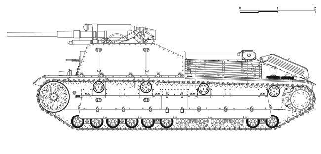Проект зенитной самоходной установки СУ-8 опытного завода имени Кирова, 1934 год.