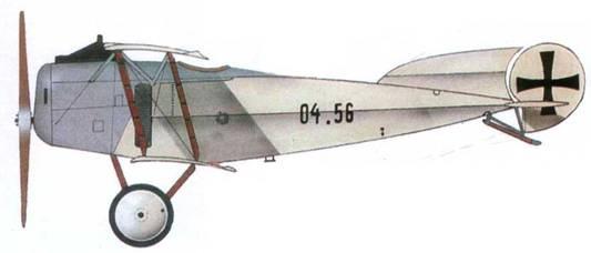 Австрийский истребитель «Фоккер D.II» №04.56 из Flik 56J, 1917 год. Пилот Отмар Вольфан.