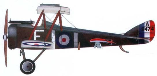 Английский истребитель DH.5 № А9474, 41-я эскадрилья, 1917 год.