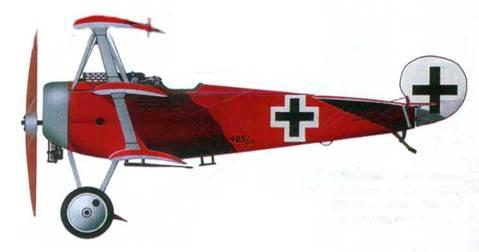 Германский истребитель «Фоккер Dr.l» №425, 1918 год. Пилот Манфред фон <a href='https://arsenal-info.ru/b/book/1799099886/58' target='_blank'>Рихтгофен</a>.