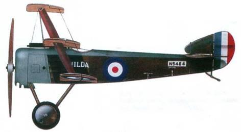 Английский истребитель «Сопвич Триплан» №5464,8-я эскадрилья морской авиации, 1916 год. Пилот лейтенант Р. Р. Соар.