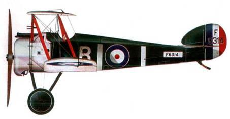 Английский истребитель «Сопвич Кемел» №6314, 10-я эскадрилья морской авиации, 1918 год.