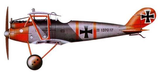 Германский истребитель «Пфальц D.III»№370, Jasta 10, 1917 год. Пилот Гехт.