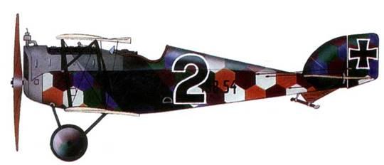 Австрийский истребитель «Авиатик Берг D.I» №138.54, Flik 56J, <a href='https://arsenal-info.ru/b/book/187274158/1242' target='_blank'>итальянский фронт</a>, 1918 год. Пилот Отмар Вольфан.