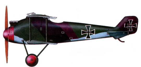 Германский истребитель «Роланд D.II», 1918 год.