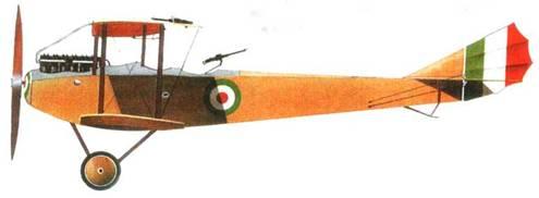 Прототип итальянскою истребителя «Помилио Гамма», 1917 год. В 91-й эскадрилье на нем летал Марио де Бернарди.
