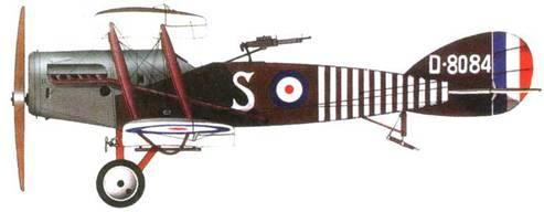 Английский эскортный истребитель «Бристоль F.2B», №8084. 139-я эскадрилья, 1918 год.