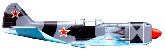 Второй прототип самолета Ла-7Р в период летных испытаний, начало 1945г.