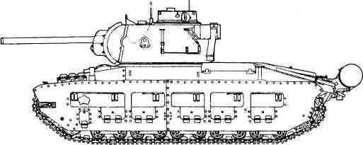 «Матильда» с пушкой Ф-96 (реконструкция).
