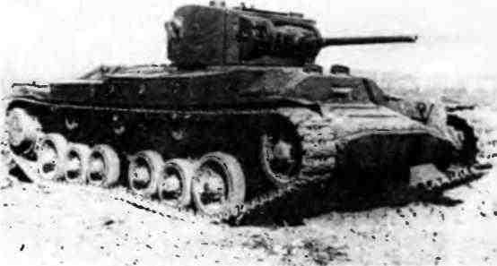 Пехотный танк «ВалентайнII» на НИИБТ Полигоне в Кубинке. 1947 год.