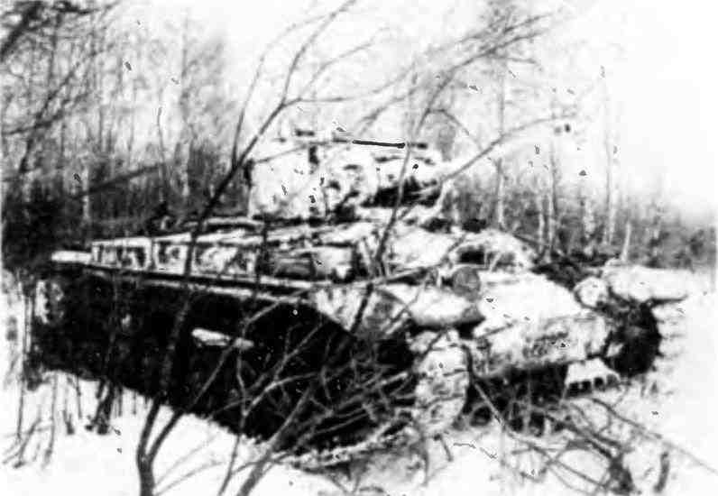 «ВалентайнII» в засаде. Битва за Москву, январь 1942 года.