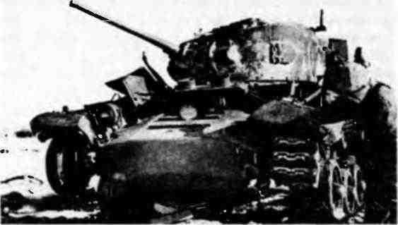 «ВалентайнVII», подбитый немецкой противотанковой артиллерией. Район Витебска, январь 1944 года.