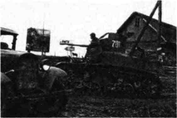 Легкий танк МЗл на подступах к Риге. 2-й Прибалтийский фронт, октябрь 1944 года.