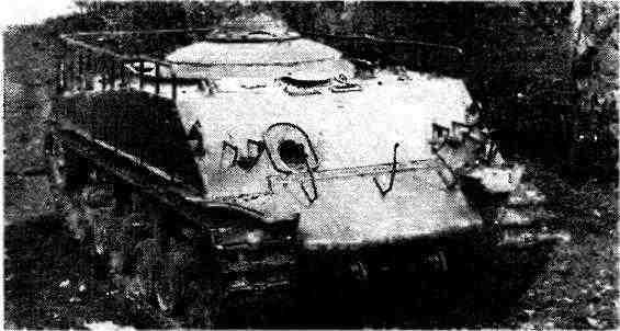 Танк M4A2(76)W HVSS, переделанный после войны в тягач.