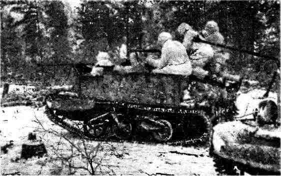 «Универсалы», вооружённые противотанковыми ружьями ПТРД, в разведке. Белоруссия, февраль 1944 года.