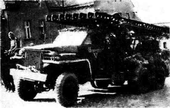 Установка БМ-13Н на шасси автомобиля «Студебекер» US6. Чехословакия, май 1945 года.