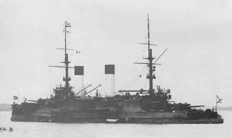 """Князь Суворов"" под адмиральским флагом."