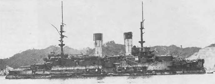 """Эскадренный броненосец """"Орел"""" приведен для ремонта в японский порт Майдзуру."""